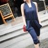 LEMON Style จั๊มสูทกางเกงเสื้อเกาะอก ด้านหน้าป้ายด้วยผ้าคล้องคออีกชั้นค่ะ