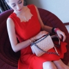 party dress426สีแดง