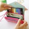 (พร้อมส่ง)กระเป๋าหนัง กระเป๋าสตางค์ ทรงสวย น่ารัก สดใส ใส่โทรศัพท์ได้ มีสายคล้องมือ