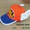 หมวกอาราเล่ สีส้ม (ปีกหมวกมีสีน้ำเงิน)