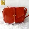 Bag-009 กระเป๋าสะพายสายเล็ก แต่งฝาสไตล์เกาหลี สีส้ม สายสะพายปรับระดับและถอดได้ (กระเป๋าพร้อมส่ง)