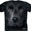 Mountain Big Face Black Labrador Dog T-Shirts