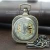 นาฬิกาพกกลไกไขลานทรงสี่เหลี่ยมจัตุรัส Cube Mechanical Pocket Watch
