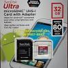 MicroSD Sandisk Ultra 32GB 80MB/s (533X)(SIS/Synnex)