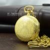 นาฬิกาพรีเมี่ยมแบบพกพาลายกุหลาบสีทองระบบถ่านควอทซ์ญี่ปุ่น