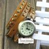 นาฬิกาหนัง พันข้อมือ 3 รอบ-สีน้ำตาลกาแฟ (ฟรีค่าจัดส่ง EMS)