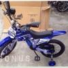 สีน้ำเงิน จักรยานวิบาก 16 นิ้ว สำหรับเด็กอายุ 6-8 ปี