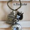 พวงกุญแจนาฬิกาลาย Bird Nest นกน้อยในรัง