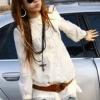 (พร้อมส่ง)เสื้อตัวยาว สวยๆ ผ้าคอตตอน สีขาว แต่งลูกไม้ แฟชั่นญี่ปุ่น
