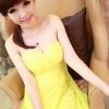 party dress287สีเหลือง