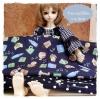 August57Pack34 : ผ้าจัดเซตคู่ ผ้าญี่ปุ่น+ ผ้าผ้าจากตลาดไทย ขนาดผ้าแต่ละชิ้น 25-27 X 50 cm