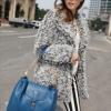 (พร้อมส่ง)กระเป๋าหนัง ทรงสวย สายโซ่+หนัง สีน้ำเงินคราม แบรนด์ Axixi ของแท้ 100%