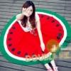 (พร้อมส่ง)กระโปรงแตงโม สุดฮิต ผ้าคอตตอนโพลี แฟชั่นเกาหลี สีแดง-เขียว