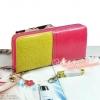 YADAS กระเป๋าสตางค์ ใบยาว สีชมพู-เหลือง แต่งซิปรอบใบ ใส่ธนาบัตรได้เยอะใบสวย น่าใช้ค่ะ