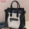 กระเป๋าถือหนังสีดำตัดสีขาวครีม สไตล์ซีลีน Ciline