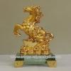 ม้าทอง6นิ้วฐานแก้วก้อนทองsl015