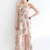 เดรส สวย ไฮโซ ลายวินเทจ สีครีม แฟชั่น เสื้อผ้า 2012