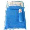 ชุดเบาะที่นอนเด็กผ้าขนหนูรุ่นเล็ก พร้อมกระเป๋าพลาสติกสำหรับพกพา (สีฟ้า)