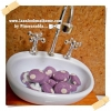 HMB1-10 : กระดุมปั๊มผ้า cotton 100% handmade ขนาด 1 cm- (1 แพคบรรจุ 12เม็ด )