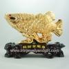 ปลามังกรทอง 7นิ้วเกล็ดลายเหรียญจีน B1803