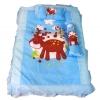 ชุดเบาะที่นอนเด็กผ้าคอตตอนใหญ่ พร้อมกระเป๋าพลาสติกสำหรับพกพา สีฟ้า