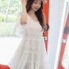 (พร้อมส่ง)ชุดเดรส คุณภาพดี แต่งระบาย ปักลายดอกไม้ สีขาว สวย น่ารัก แฟชั่นเกาหลี