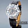 นาฬิกาข้อมือกลไกไขลาน โครงสแตนเลสสตีล ดีไซด์ Metal Art #3 (พร้อมส่ง)