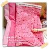 JUNE58.Pack39 : ผ้าจัดเซต 2 ชิ้น ผ้าอมริกาลายจุด +ผ้าพื้นเนื้อดีในไทยขนาด แต่ละชิ้น 27 X50 cm