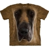 The Mountain Big Face Great Dane Dog T-Shirts