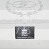 สติ๊กเกอร์ D.A.D Garson อักษรล่าง ติดหน้ารถ-ท้ายรถ ขนาดใหญ่ สีเงินเกล็ดเงิน (15cm x 32cm)