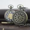 นาฬิกาพกถวายพระระบบไขลาน-ลายวงล้อธรรมจักร สลักลายกนก ( พร้อมส่ง)