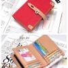 (พร้อมส่ง)กระเป๋าสตางค์เกาหลี สีแดง