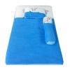 ชุดเบาะที่นอนเด็กผ้าขนหนูรุ่นใหญ่ หนา 2.5 นิ้ว สีฟ้า