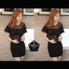 Dress129 - เดรสสีดำ รัดรูป แต่งด้านบนเป็นซีทรู เซ็กซี่จ้า อก 32 นิ้ว ยาว30นิ้วจ้า ((เดรสแฟชั้นพร้อมส่ง))