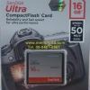 CF Sandisk Ultra 16GB 50MB/s (333X)(SIS/Synnex)