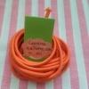 ยางยืดแบบกลมสีส้ม ขนาด 0.3 cm ราคาขายต่อ 1 หลา