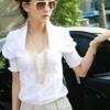 (พร้อมส่ง)เสื้อเชิ้ต ทรงสวย แขนตุ๊กตา สไตล์เจ้าหญิง สีขาว