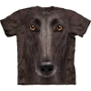 Big-Face Black Greyhound Dog-T-Shirts