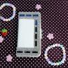 เคสมือถือ กระเป๋าหนังประดับเพชร สีน้ำเงิน สำหรับ Samsung Galaxy S3
