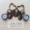 """พวงกุญแจนาฬิกาวินเทจคอลเลคชั่นคู่รัก """"Love CAGE"""" เซทคู่"""