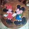 ลาย Mickey Mouse 3 รุ่นไม่มีพนักพิง โต๊ะ ขนาด 18*20 นิ้ว จำนวน 1 ตัว เก้าอี้ ขนาด 10*10 นิ้ว จำนวน 4 ตัว ผลิตจากไม้จามจุรีแท้ ไม่ใช่ไม้อัด รับน้ำหนักได้ถึง 70 กก.