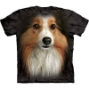 The Mountain Big Face Sheltie Dog T-Shirts