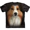 The Mountain Big Face Sheltie Dog T-Shirts