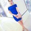 party dress180สีน้ำเงิน