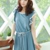 (พร้อมส่ง)เดรสน่ารัก สวยใส สไตล์เกาหลี สีฟ้า ผ้าคอตตอน