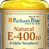 Puritan's Pride Natural Vitamin E-400 IU 250 Softgels