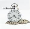 สร้อยคอนาฬิกา Simple Roman Design สีเงินเงาเลขโรมัน(พร้อมส่ง)