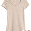 เสื้อยืดแขนสั้นน่ารัก ผ้าคอตตอน สีเทา แบรนด์ H&M