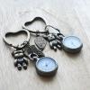 พวงกุญแจนาฬิกาเซทคู่รัก LOVE U FOREVER