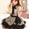 เดรส ผ้าแก้ว ซีทรู สีดำ สไตล์น่ารัก ปนเซ็กซี่ แฟชั่น อินเทรนด์ 2